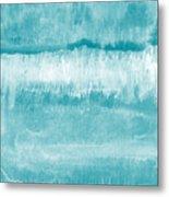 Beach Day Blue- Art By Linda Woods Metal Print