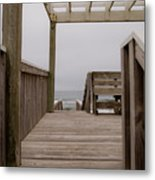 Beach Deck Metal Print