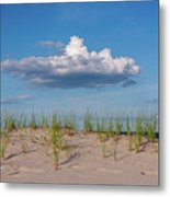 Beach Dune Clouds Jersey Shore Metal Print
