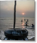 Beach Evenings Metal Print