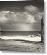 Beach Fence - Wellfleet Cape Cod Metal Print