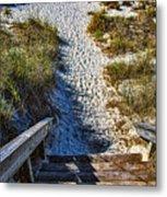 Beach Footprints - Boca Grande Florida Metal Print