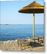 Beach For Two Metal Print