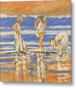 Beach Friends Metal Print