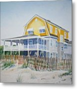 Beach Front At Wrightsville Beach Metal Print