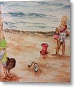 Beach Fun. 1 Metal Print