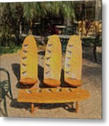 Beach Furniture Metal Print