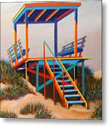 Beach Gate Metal Print