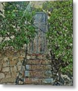 Beach Gate In The Morning Metal Print