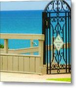 Beach Gate Metal Print