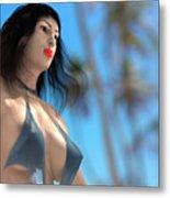 Beach Girl Metal Print