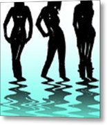 Beach Girls Metal Print