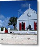 Beach Grand Turk Church Metal Print