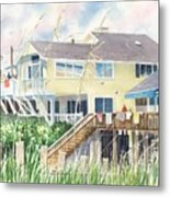 Beach House At Wrightsville Beach Metal Print