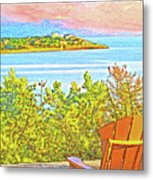Beach House On The Bay Metal Print