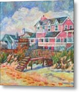 Beach Houses At Pawleys Island Metal Print