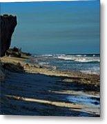 Beach Hutchinson Island, Fl Metal Print