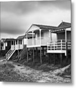 Beach Huts North Norfolk Uk Metal Print