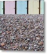 Beach Huts X Metal Print