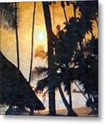 Beach In Accra Metal Print