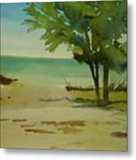 Beach In Anna Maria Florida Metal Print