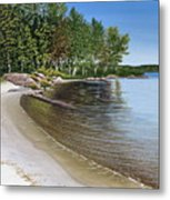 Beach In Muskoka Metal Print