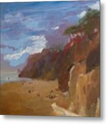 Beach In Santa Barbara Metal Print