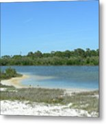 Beach Inland Lake Metal Print