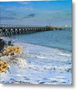 Beach La Tranche Sur Mer Metal Print