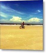 Beach Life On Daytona Beach Metal Print