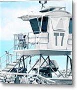 Beach Lifeguard Tower Metal Print