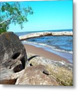Beach Lodging Metal Print