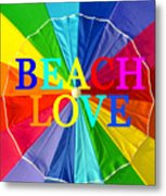 Beach Love Umbrella Spca Metal Print