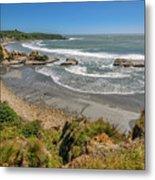 Beach Near Cape Foulwind Metal Print