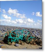 Beach Net Metal Print