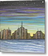 Beach Night Life Metal Print