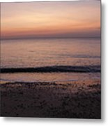 Beach Ocean Waves At Dawn 1 Metal Print