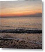 Beach Ocean Waves At Dawn 5 Metal Print
