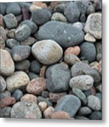 Beach Of Stones Metal Print