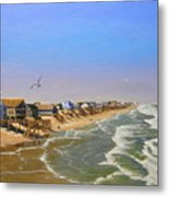 Beach Of The Outer Banks Of N.c. Metal Print