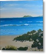Beach On The North Coast Of Nsw  Metal Print