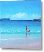 Beach Painting - A Sea Breeze Metal Print