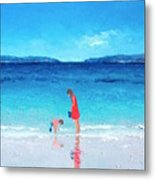 Beach Painting - Cooling Off Metal Print