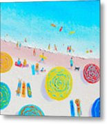 Beach Painting - Lazy Lingering Days Metal Print