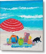 Beach Painting - One Summer Metal Print