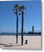 Beach Palms Metal Print