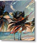 Beach Palms - Multi 9a Metal Print