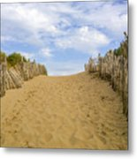 Beach Path To The Sea Metal Print