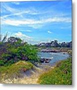 Beach Path Wisdom Metal Print