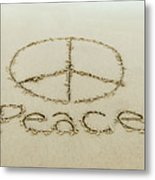 Beach Peace Metal Print